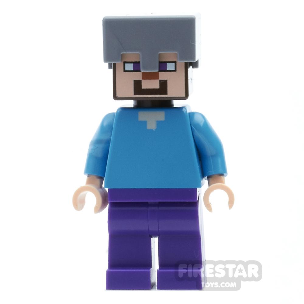 LEGO Minecraft Mini Figure - Steve with Helmet