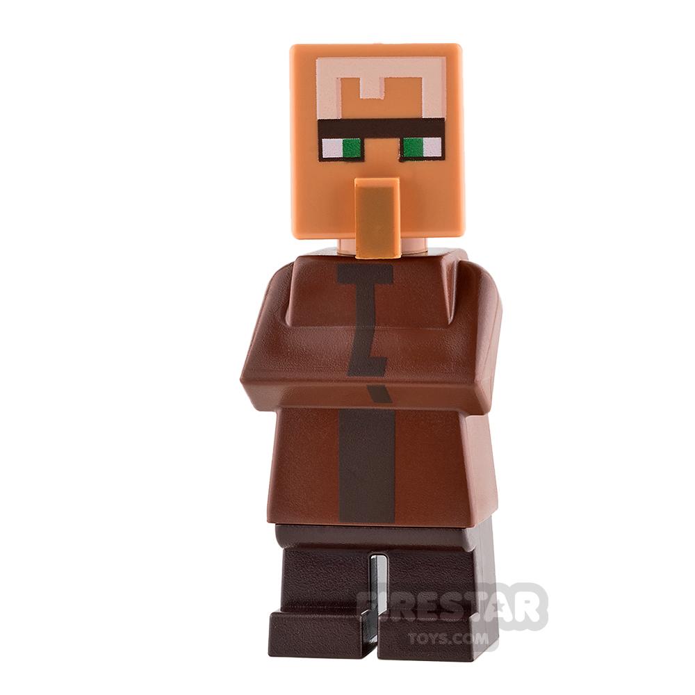 LEGO Minecraft Mini Figure - Villager - Reddish Brown Top