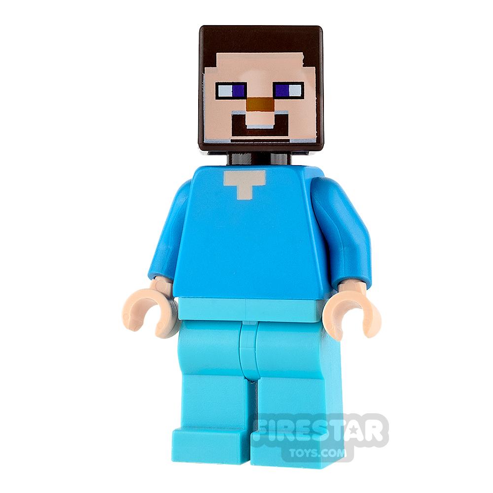 LEGO Minecraft Mini Figure - Steve - Medium Azure Legs