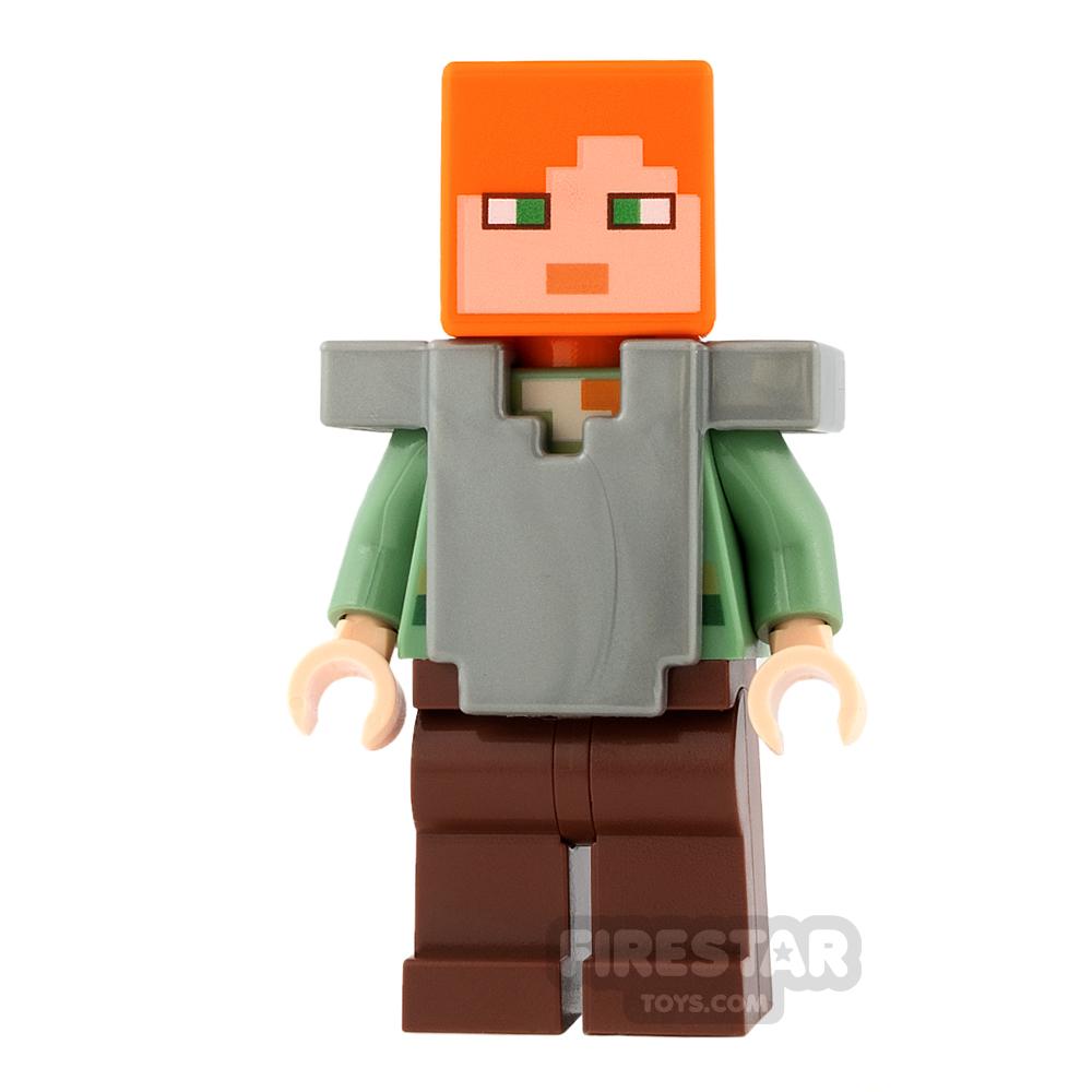 LEGO Minecraft Mini Figure - Alex - Flat Silver Armour