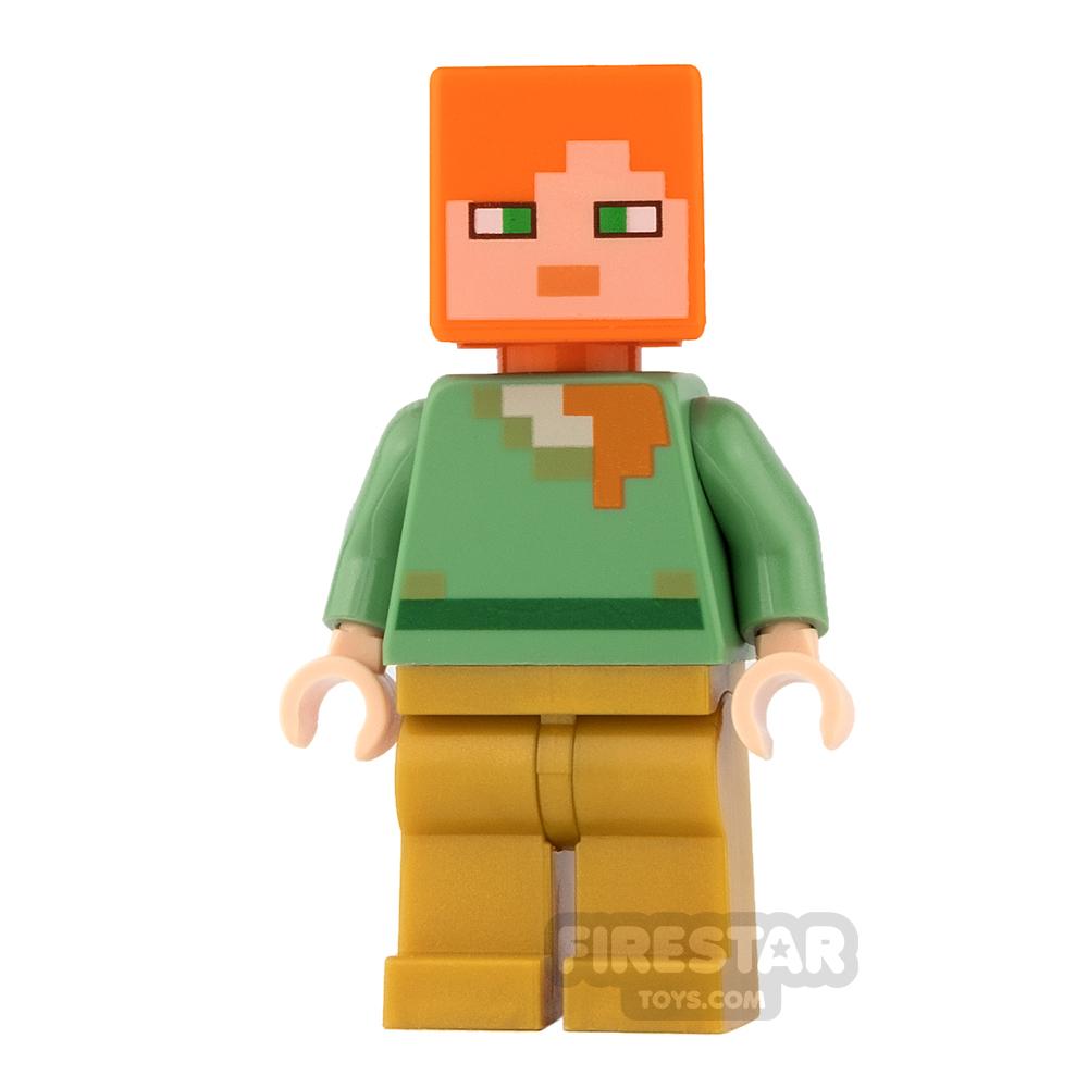 LEGO Minecraft Mini Figure - Alex - Pearl Gold Legs