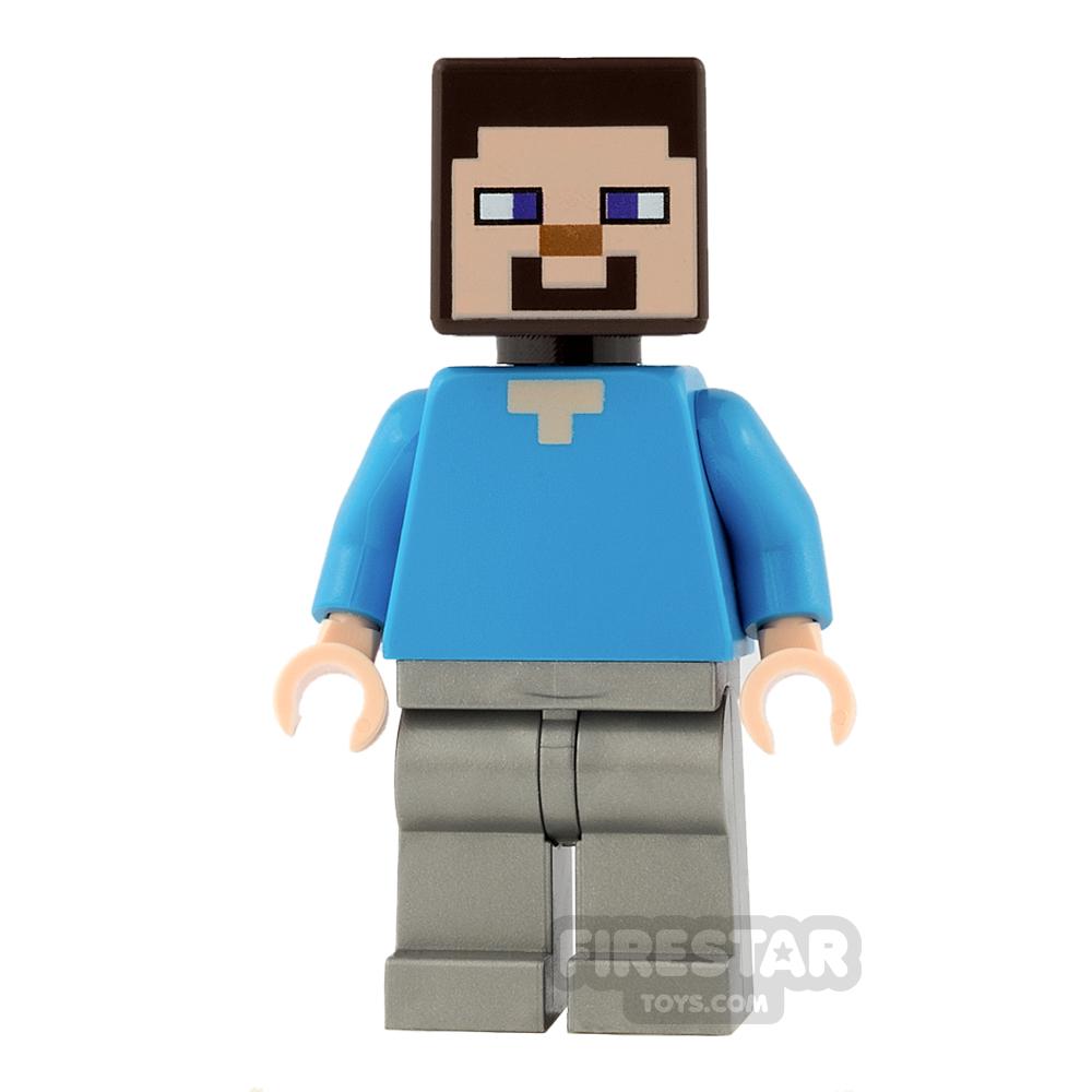 LEGO Minecraft Mini Figure - Steve - Flat Silver Legs