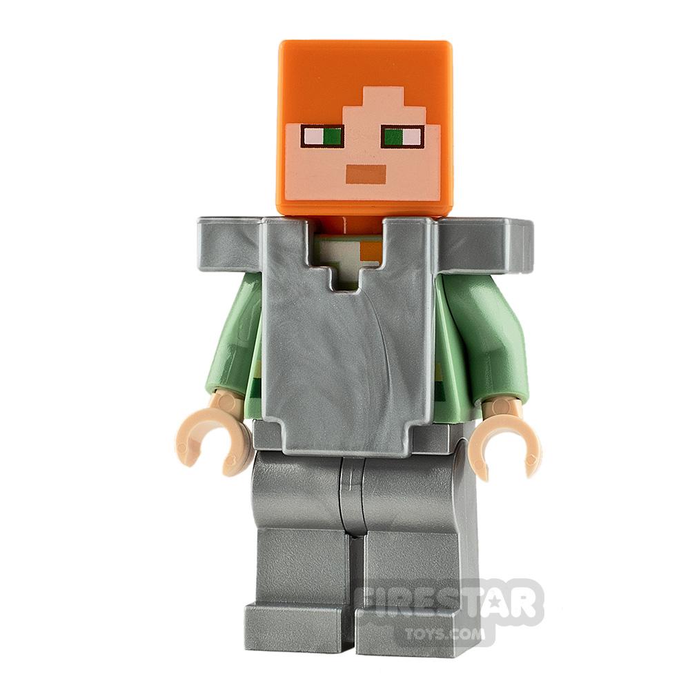 LEGO Minecraft Minifigure Alex Silver Armour