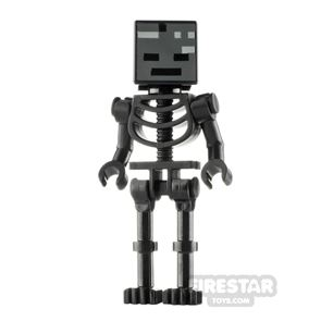 LEGO Minecraft Minifigure Wither Skeleton Bent Arms