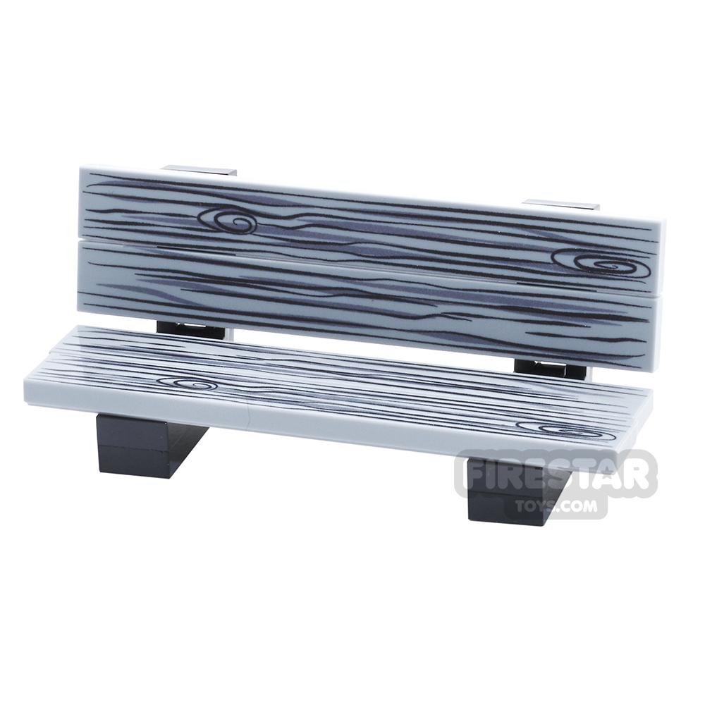Custom Design Park Bench - Black And White