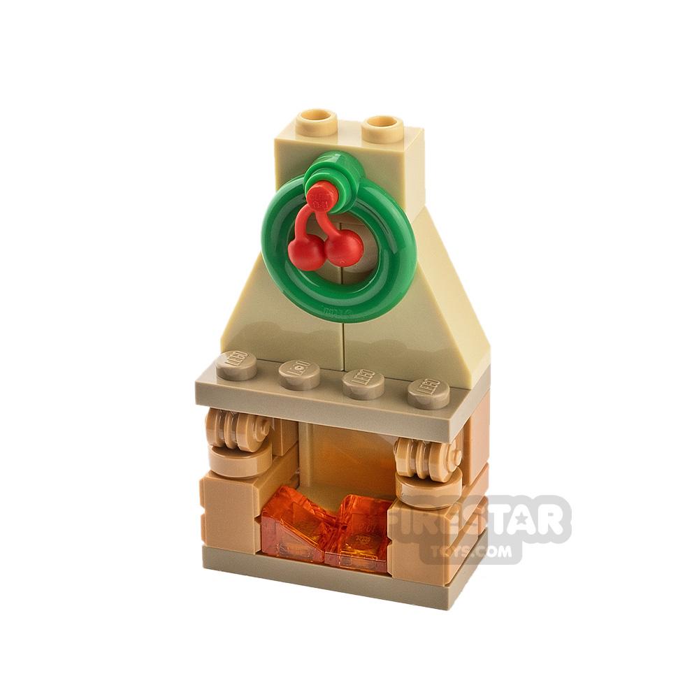 Custom Mini Set Fireplace with Holly