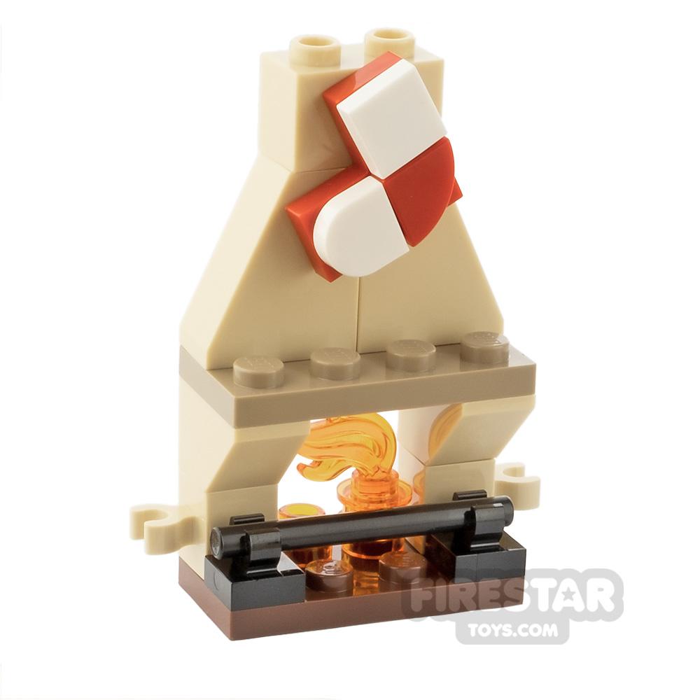 Custom Mini Set Mini Fireplace with Stocking
