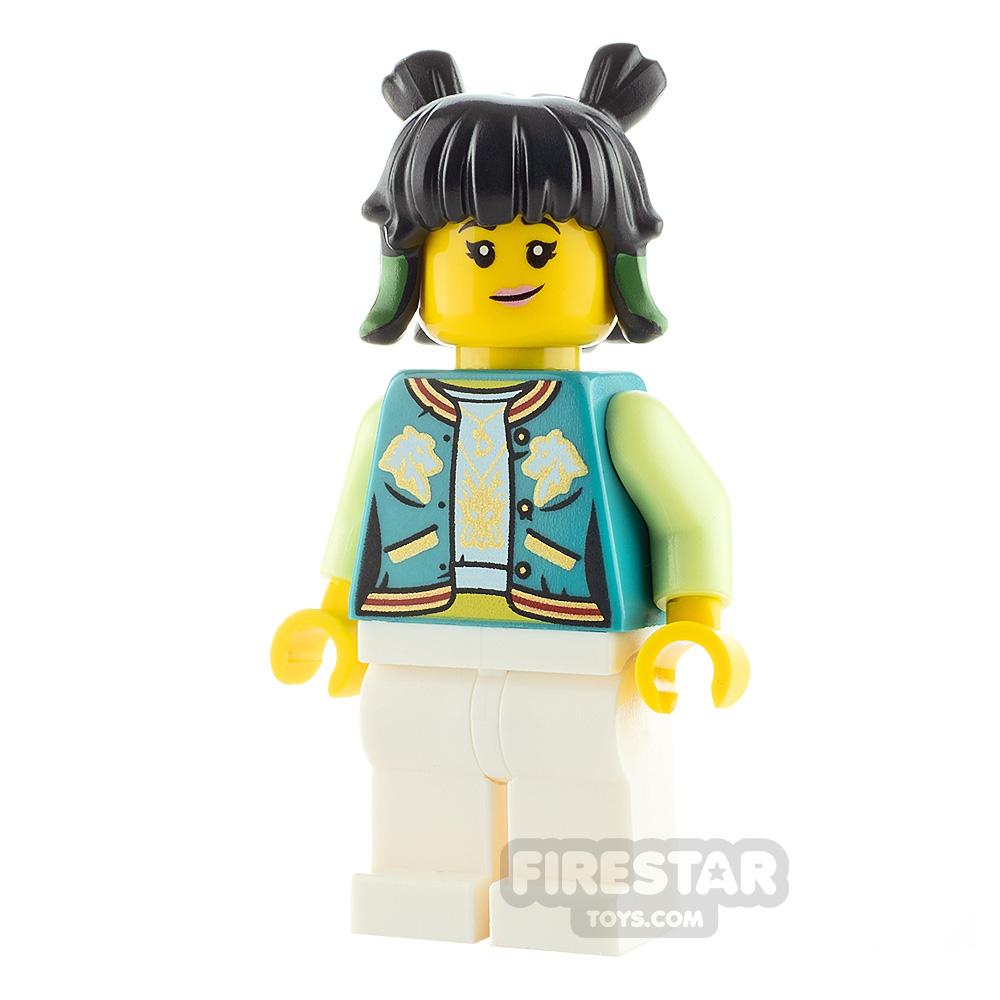 LEGO Monkie Kid Minifigure Mei Dark Turquoise Jacket
