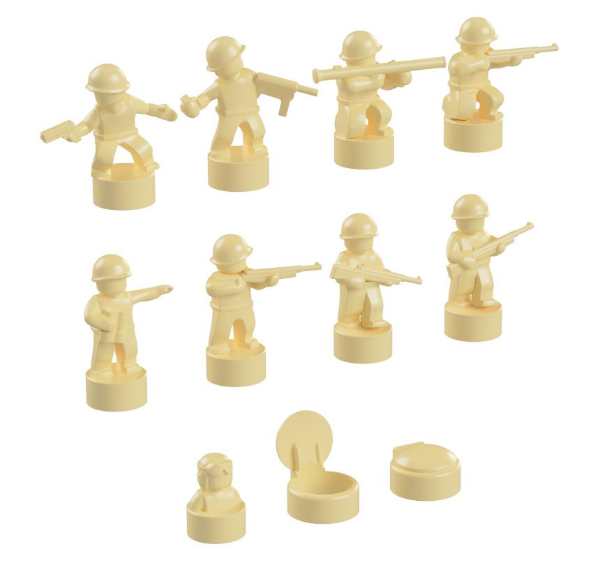 BrickMini Nano Soldiers - Tan Set