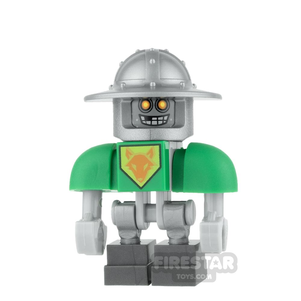 LEGO Nexo Knights Mini Figure - Aaron Bot - Flat Silver Helmet