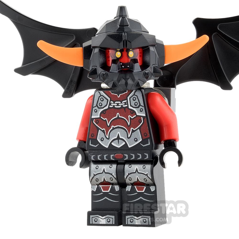 LEGO Nexo Knights Mini Figure - Ash Attacker - Orange Horns and Wings