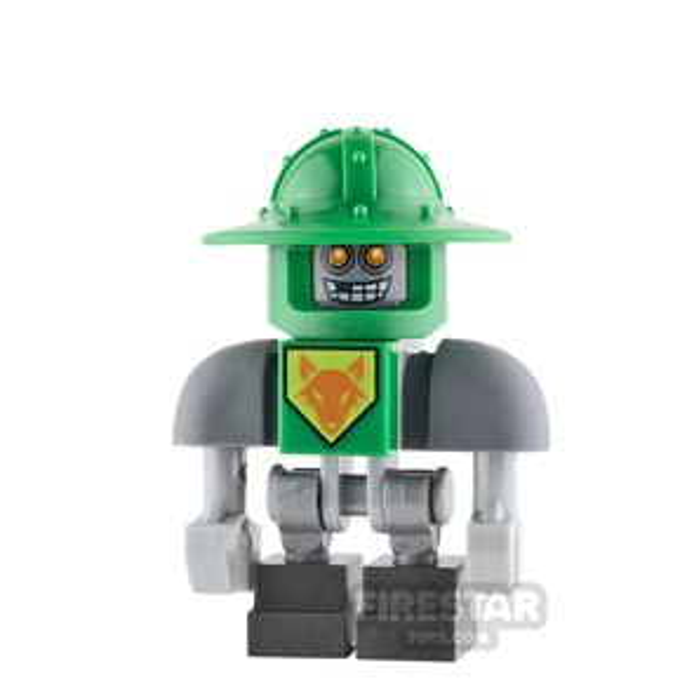 LEGO Nexo Knights Mini Figure - Aaron Bot - Green Helmet