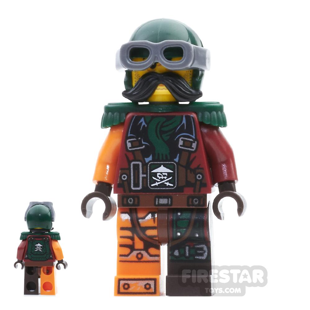 LEGO Ninjago Mini Figure - Flintlocke - Epaulettes