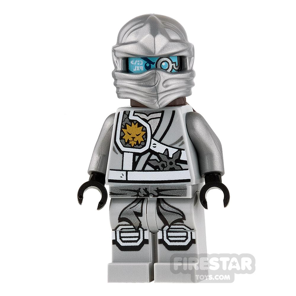 LEGO Ninjago Mini Figure - Zane - Titanium with Scabbard