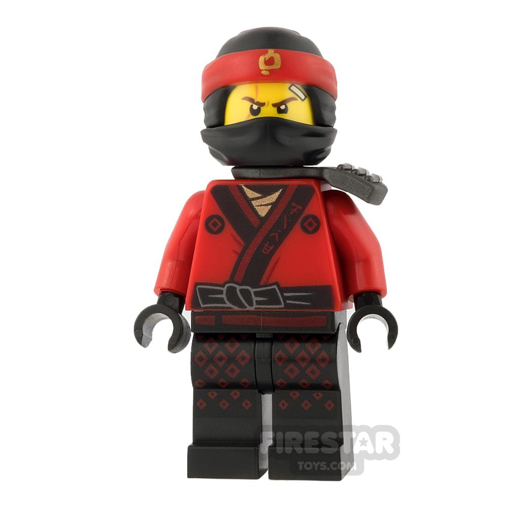 LEGO Ninjago Mini Figure -  Kai - Pearl Dark Gray Katana Holder