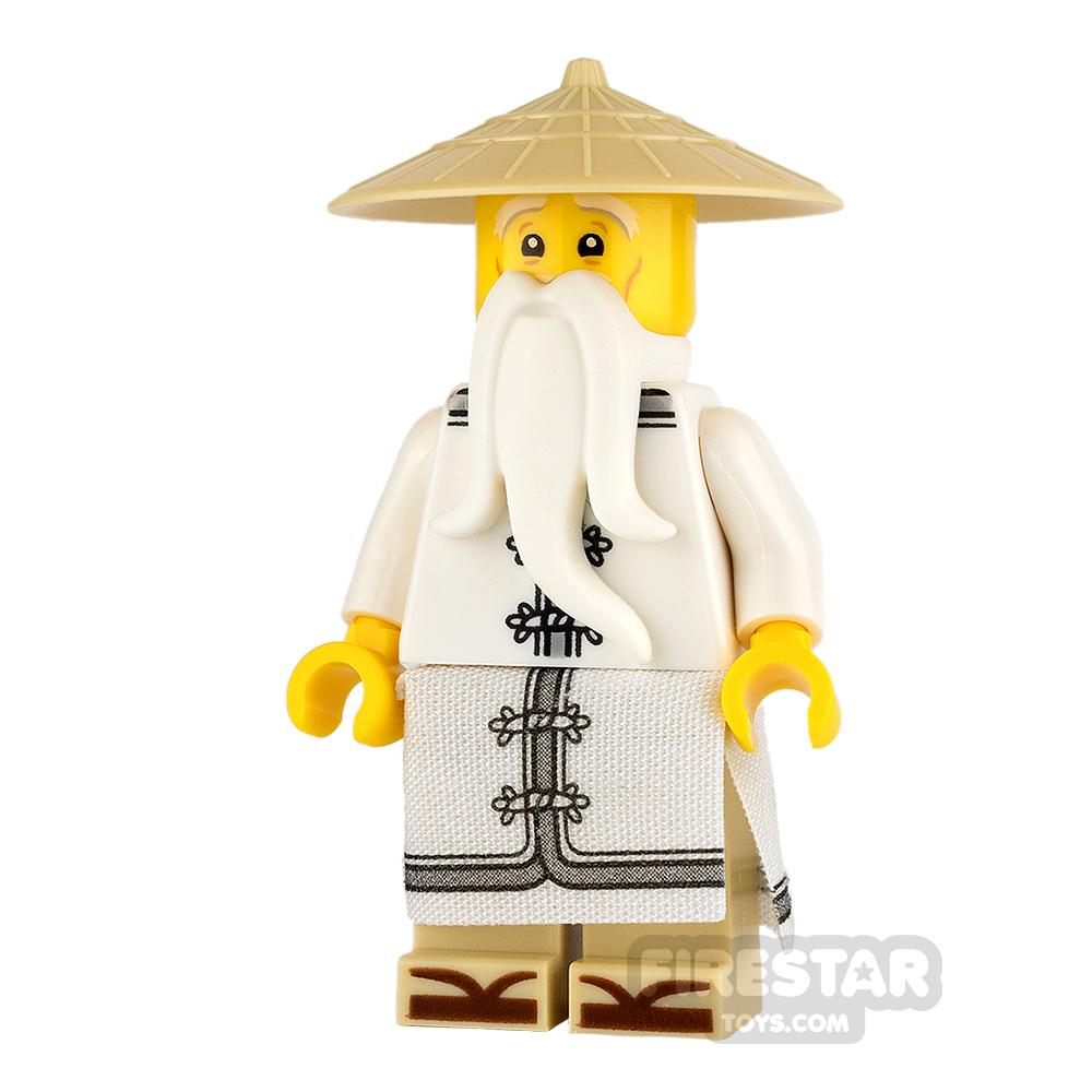 LEGO Ninjago Mini Figure - Sensei Wu - White Robe and Zori Sandals