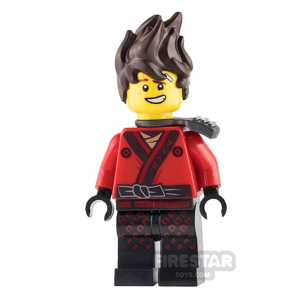LEGO Ninjago Mini Figure - Kai - Hair, Pearl Dark Gray Katana Holder