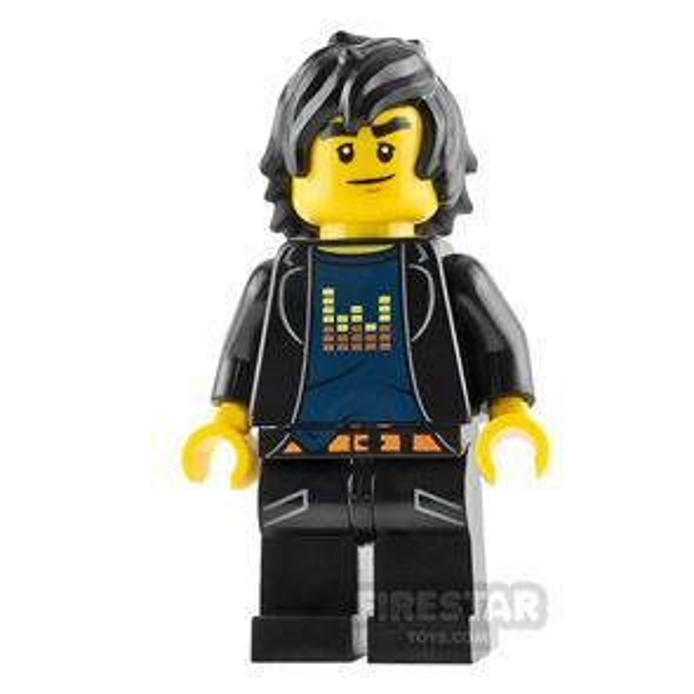 LEGO Ninjago Mini Figure - Cole - Sound Bars T-shirt