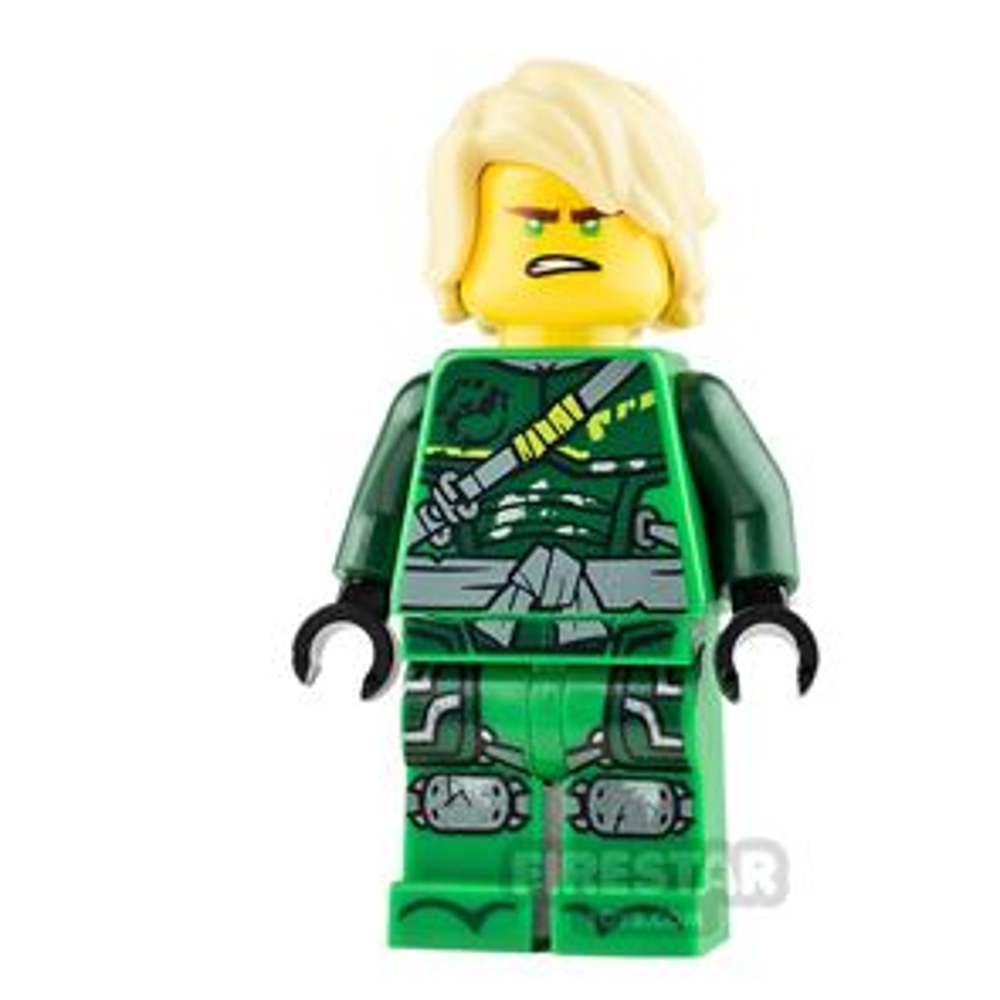 LEGO Ninjago Minifigure Lloyd Hunted with Hair