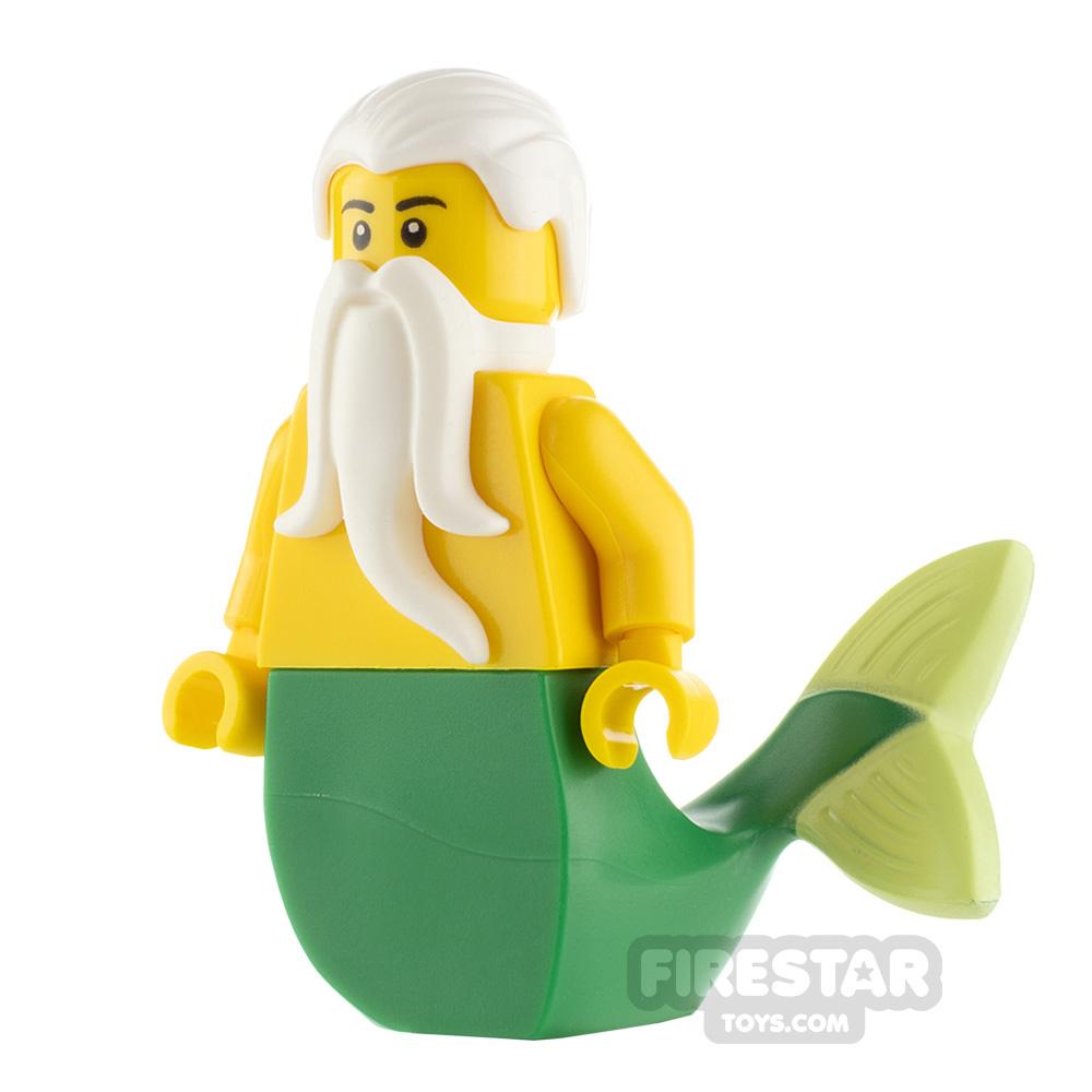 LEGO Pirate Minifigure Merman Green Tail