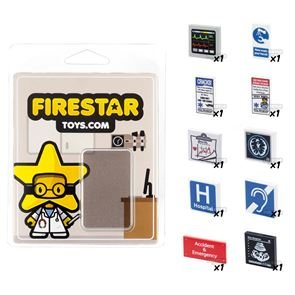 Hospital Sign Pack - Set of 10 Medical Accessories
