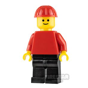 LEGO City Minifigure Red Top and Construction Helmet