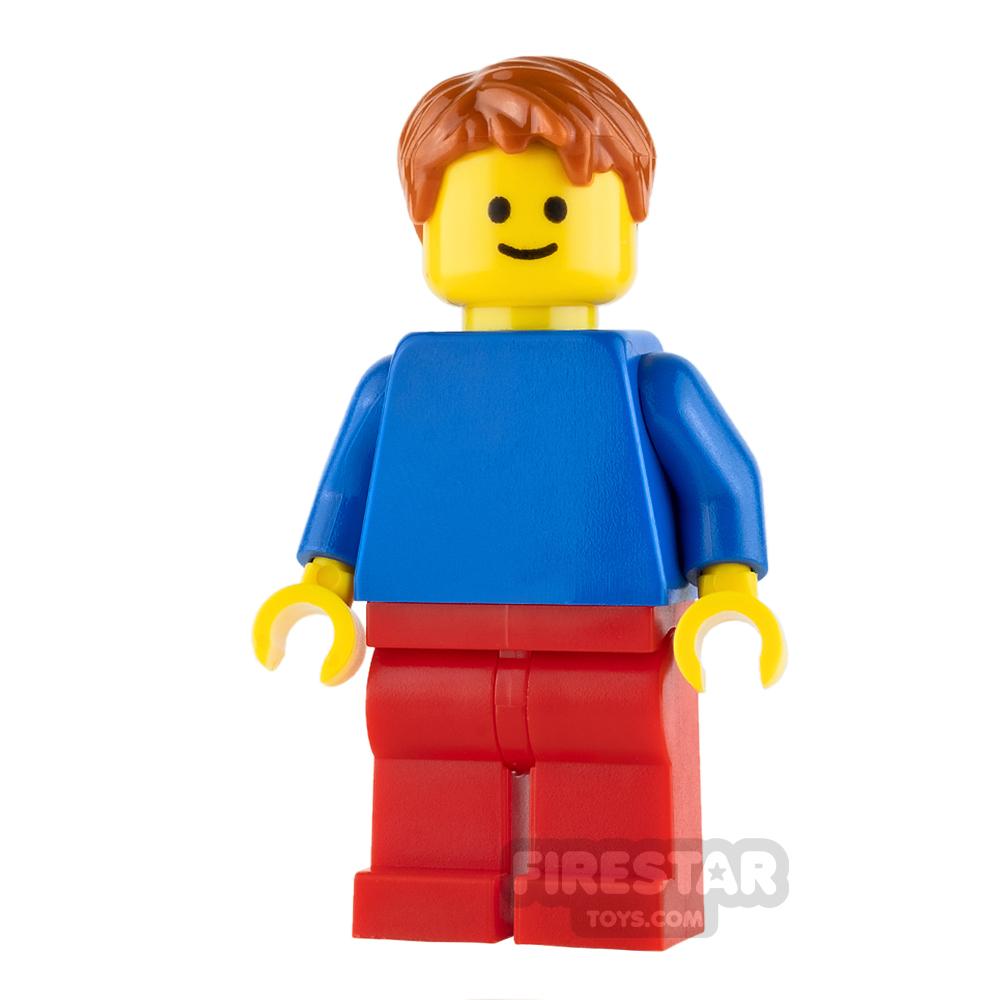 LEGO City Mini Figure - Male - Blue Top