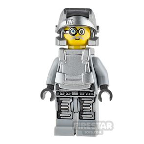 LEGO Power Miners Mini Figure - Power Miner - Brains - Gray Outfit