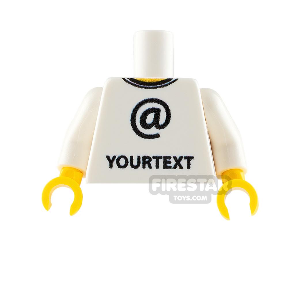 Printed Minifigure Torso - Social Media @ symbol