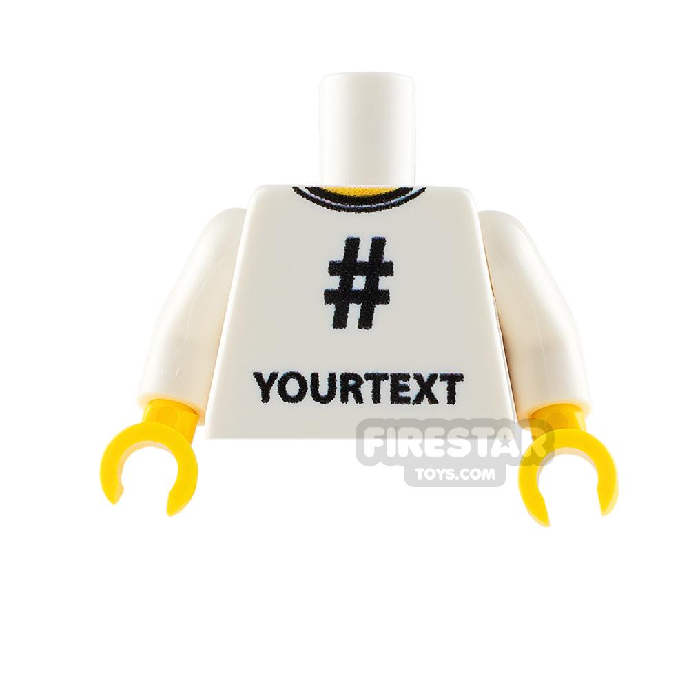 Printed Minifigure Torso - Social Media # Hashtag