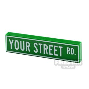 Personalised Tile US Street Sign 1x4
