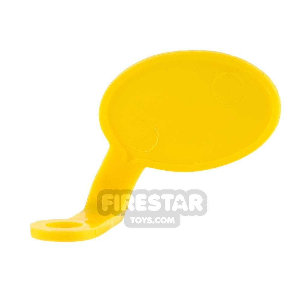 LEGO Speech Bubble - Smooth Edge - Left - Yellow