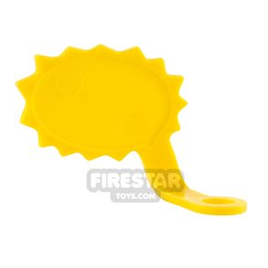 LEGO Speech Bubble - Spiked Edge - Right - Yellow