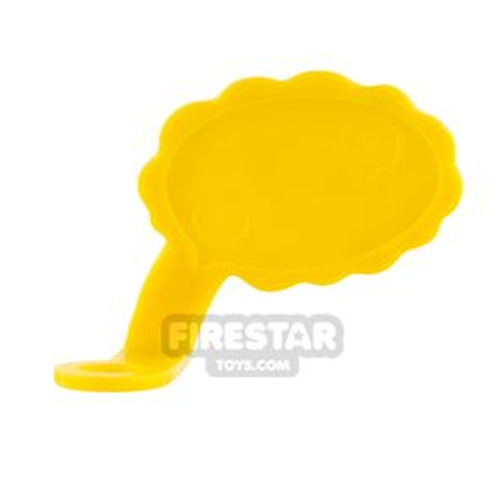 LEGO Speech Bubble - Cloud Edge - Left - Yellow