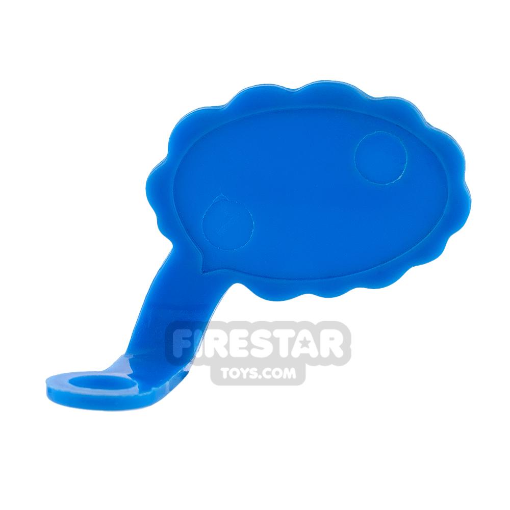 LEGO Speech Bubble - Cloud Edge - Left - Blue