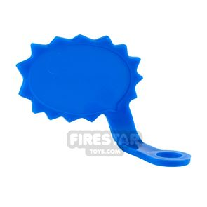 LEGO Speech Bubble - Spiked Edge - Right - Blue
