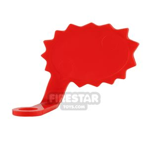 LEGO Speech Bubble - Spiked Edge - Left - Red