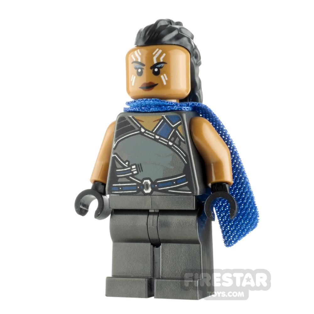 LEGO Super Heroes Minifigure Valkyrie Pearl Dark Gray Suit