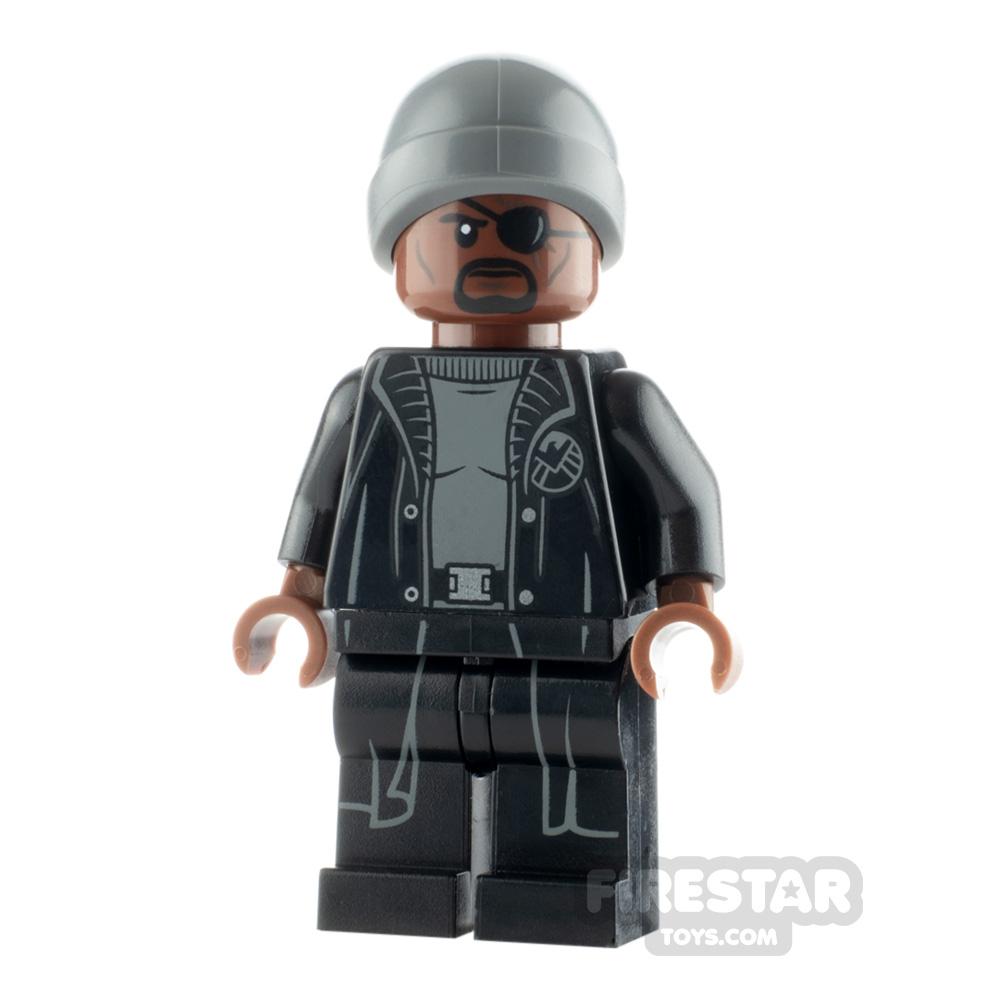 LEGO Super Heroes Minifigure Nick Fury Gray Beanie