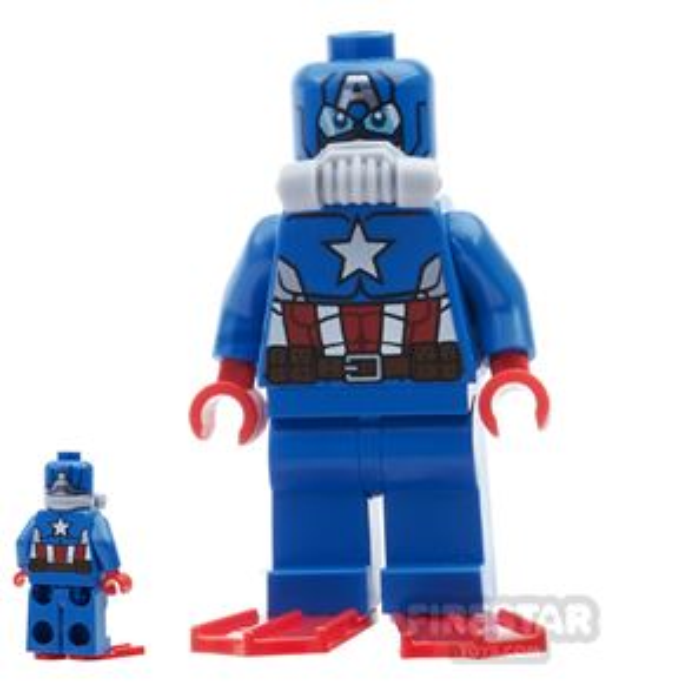 LEGO Super Heroes Mini Figure - Scuba Captain America