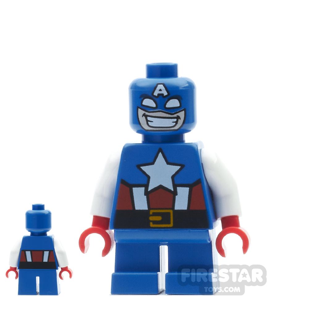 LEGO Super Heroes Mini Figure - Captain America - Short Legs