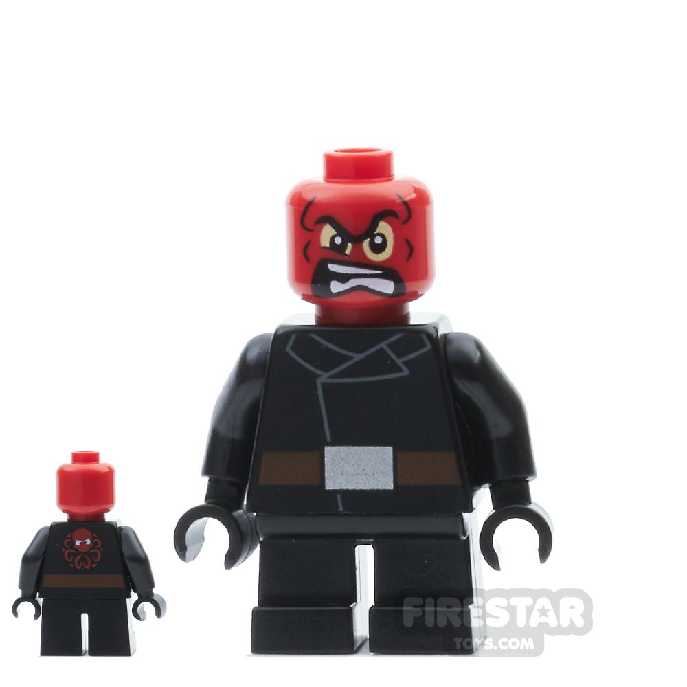 LEGO Super Heroes Mini Figure - Red Skull - Short Legs