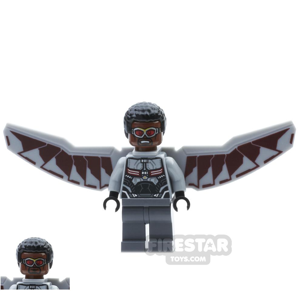 LEGO Super Heroes Mini Figure - Falcon - Light Blueish Gray Suit