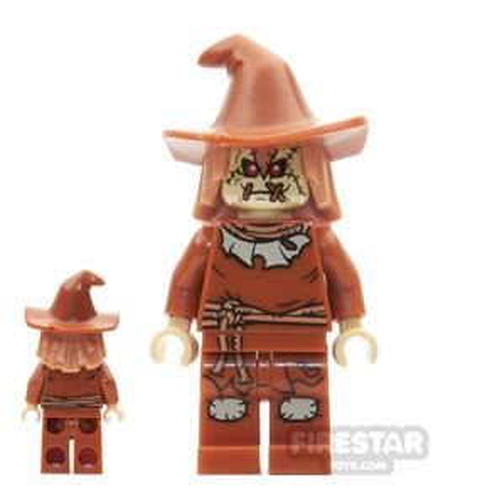 LEGO Super Heroes Mini Figure - Scarecrow - Hat with Dark Orange Hair