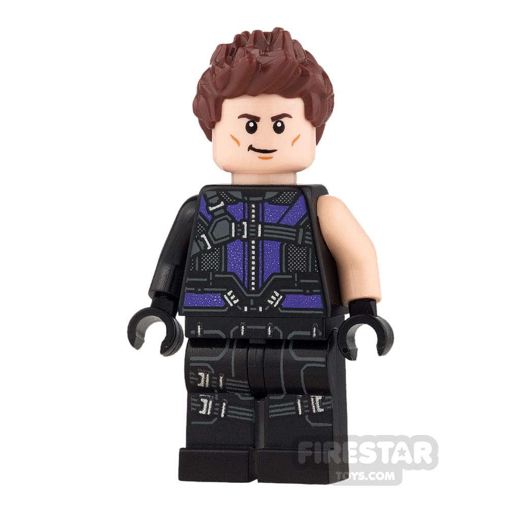 LEGO Super Heroes Mini Figure - Hawkeye - Black and Dark Purple Suit