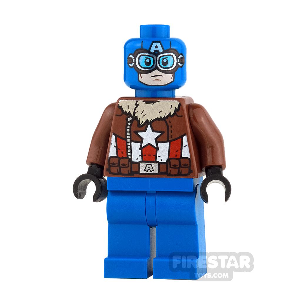 LEGO Super Heroes Mini Figure - Captain America - Pilot