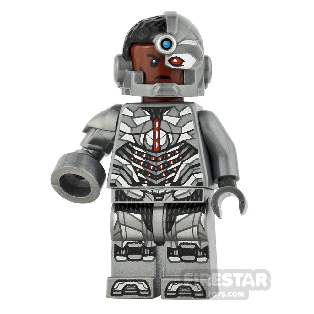 LEGO Super Heroes Mini Figure - Cyborg - Mechanical Arm