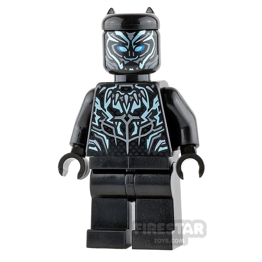 LEGO Super Heroes Mini Figure - Black Panther - Blue Markings
