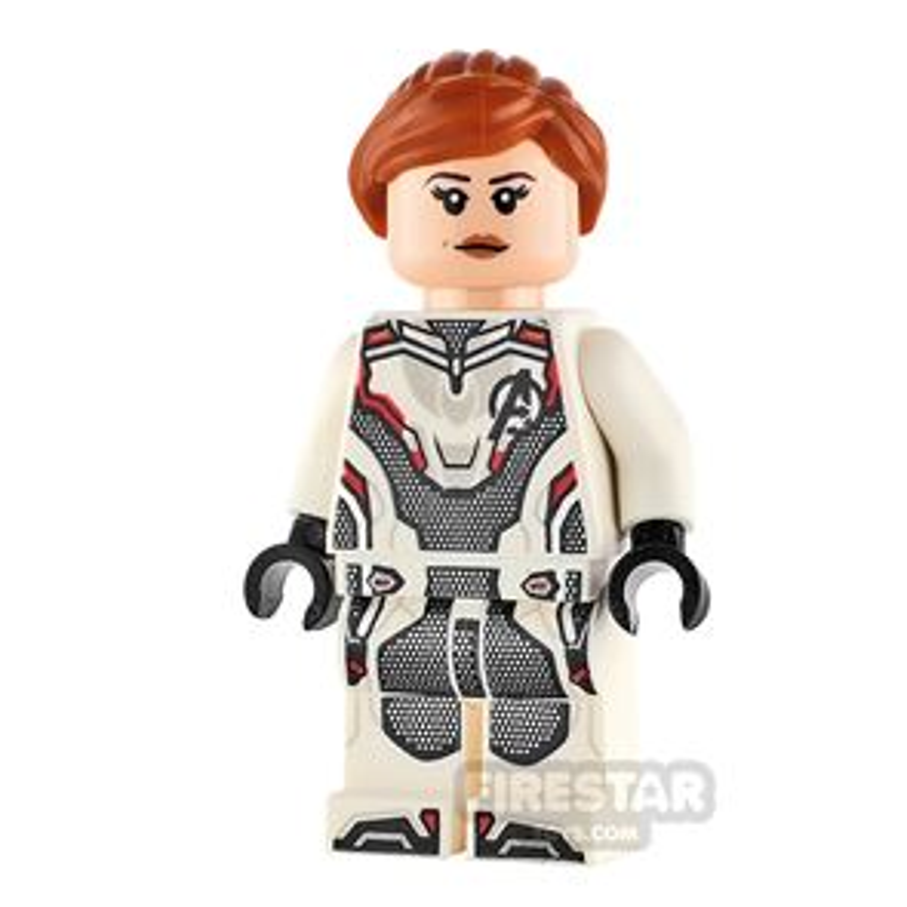 LEGO Super Heroes Minifigure Black Widow White Jumpsuit
