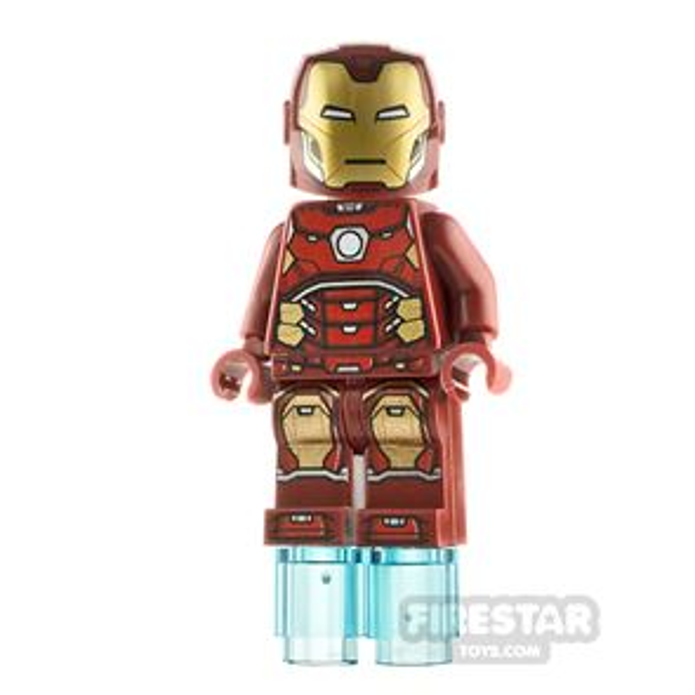 LEGO Super Heroes Minifigure Iron Man Hexagon on Chest